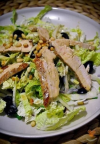 Салат из пекинской капусты с овощами и куриной грудкой