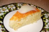 Очень вкусный и сочный манно- яблочный пирог
