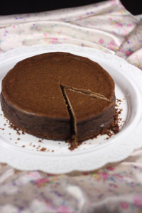 Шоколадно-кофейный чизкейк с бесподобной вафельно-кокосовой основой