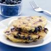 Диетические оладьи из овсянки и черники (завтрак)