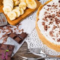 Шоколадно-банановый чизкейк с творогом!